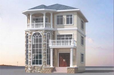 120平方自建房设计图三层户型,素雅简洁