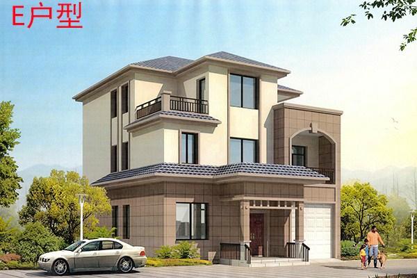农村两间三层别墅房屋设计图,包含外观图片 三层别墅设计图 鲁班设