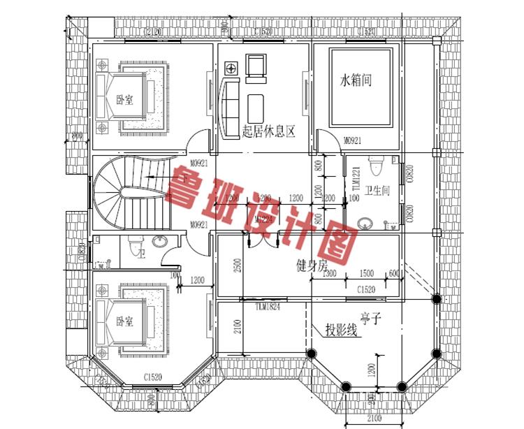三层新农村住宅设计三层户型图