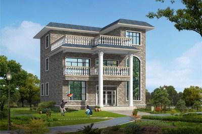 农村三层平屋顶别墅房屋设计图,外观漂亮,造价还低。