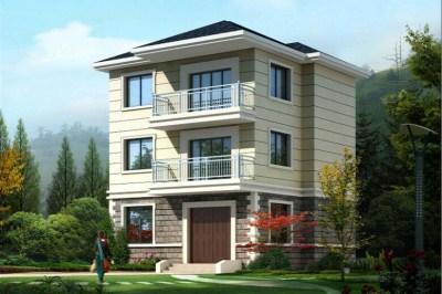 70平方三层别墅设计图,小户型自建房屋户型