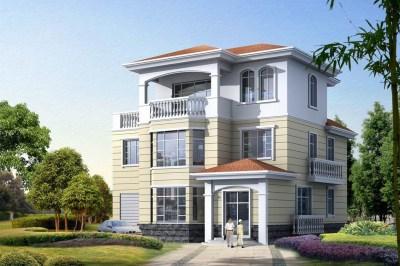 带车库新农村三层住宅设计图,经济实用,时尚大方,邻里羡慕。