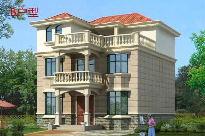 12X10米三层自建房设计图方案,经济实用