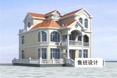 欧式二层半别墅房屋设计图,复式楼中楼结构