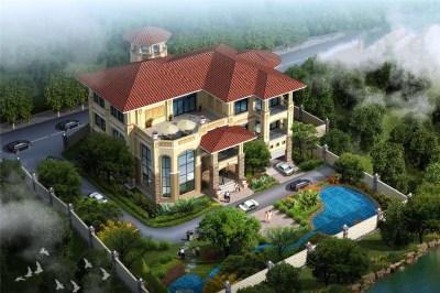 200万三层半别墅房屋设计图,豪华大气,堪比城市豪宅!
