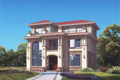 60万预算三层别墅楼房设计图,外观高端豪华。