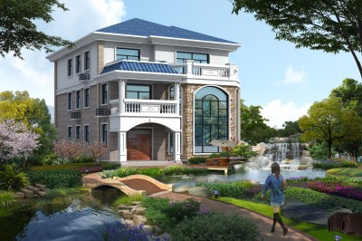 160平三层别墅设计图,农村自建房不错的户型