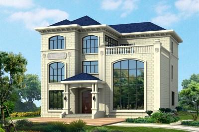 175平米三层别墅设计图,挑空客厅,适合农村生活。