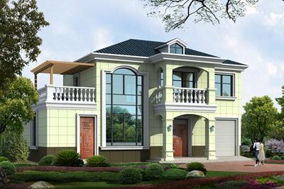 建房说二层别墅设计图,美感和实用兼具的农村小别墅!