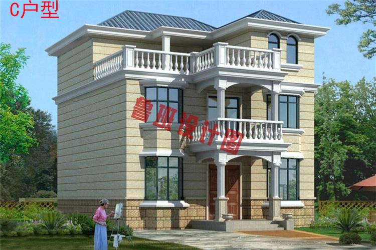 三层小别墅设计外观图