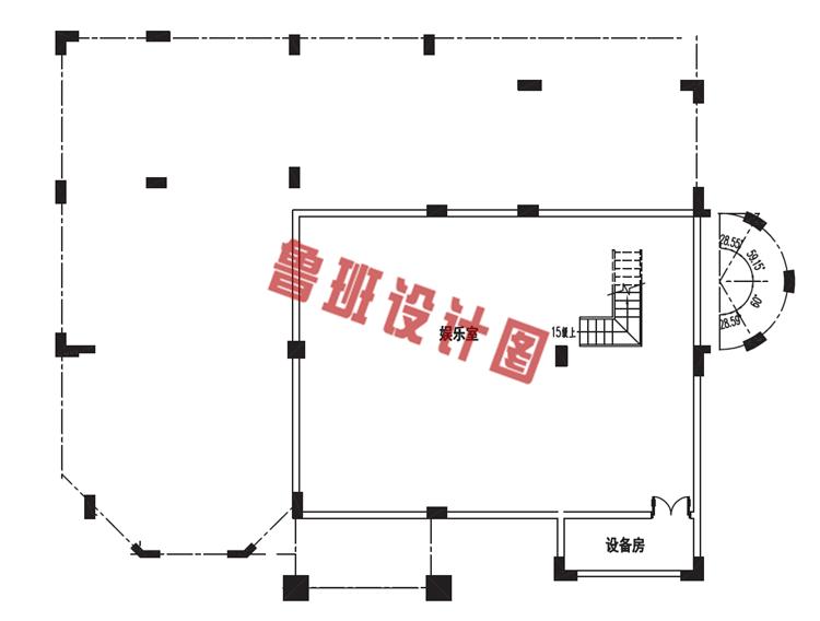 三层别墅设计地下一层户型图