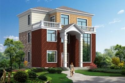 120平米中式三层楼房设计图,回乡建一栋真的很不错 三层别墅设计图