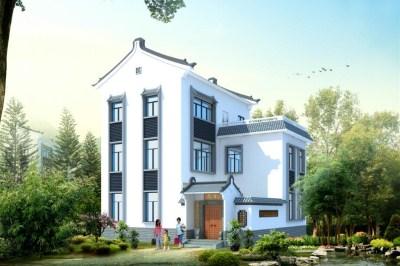 安徽新农村小别墅设计图,带外观效果图和全套图纸。