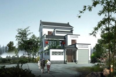 农村自建二层半别墅带院子设计,还是中式看着舒服!