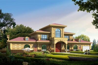 农村自建别墅二层半户型设计图,外观大气豪放