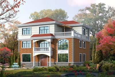 14*11米三层农村别墅房屋设计图,自建在村里倍有面子-120平米中式