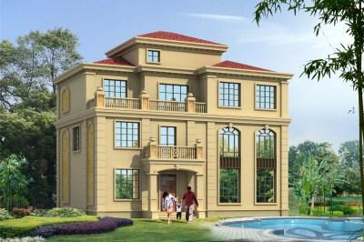 新款三层半别墅图片及设计图,带阁楼简单大气。