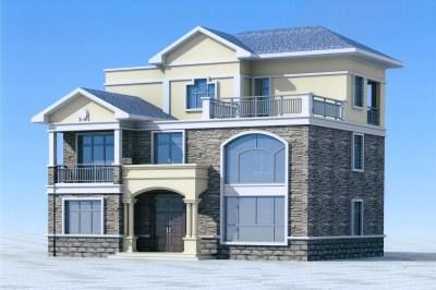 150平农村三层自建楼房设计图,含效果图和全套图纸。