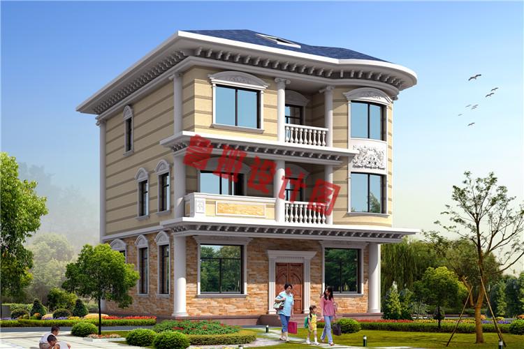100平米三层农村别墅设计效果图