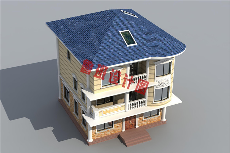 100平米三层农村别墅设计图片
