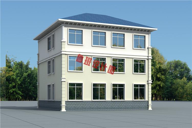 精美热销三层双拼别墅设计外观图