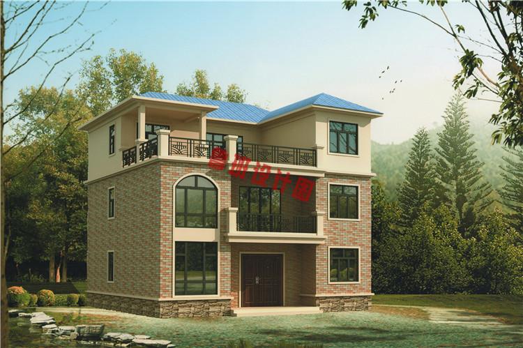 两间二层楼房设计图_漂亮实用三层别墅自建房设计图,外观简洁大方_三层别墅设计图 ...