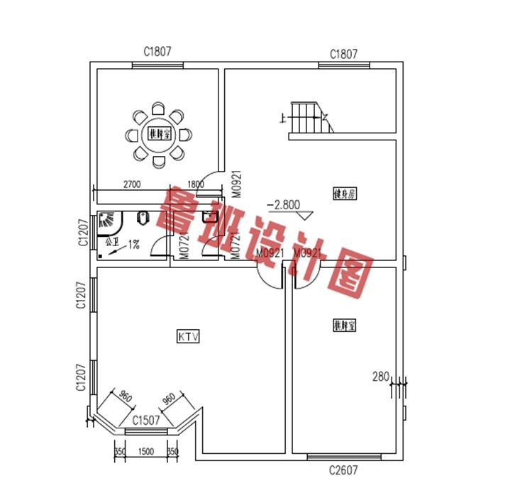 新农村三层楼房设计地下一层户型图