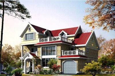 新农村二层半别墅图片,带全套设计图纸