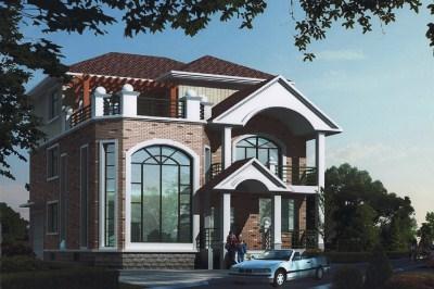 新农村三层中式别墅设计户型图,造价40万左右