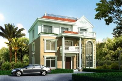 170平新农村三层别墅自建房设计图,经典漂亮