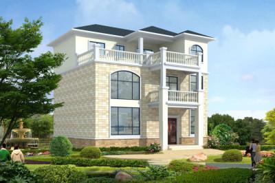 110平方三层简单实用自建房设计图,带有时尚的潮流感