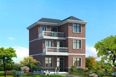 占地90平米的三层别墅自建房设计图,造价18万。