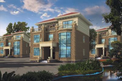 40万豪华复式三层别墅设计图纸,外观豪华大气