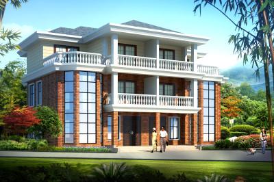 230平(单户115平)三层双拼自建房设计图,省空间又省成本,十分划算