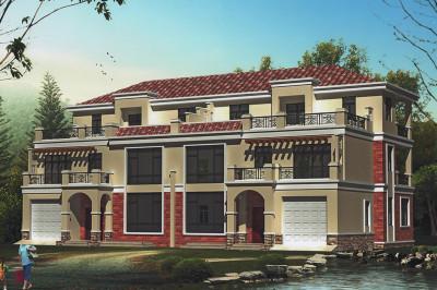 带车库农村三层双拼别墅房屋设计图,空间利用率相当高。