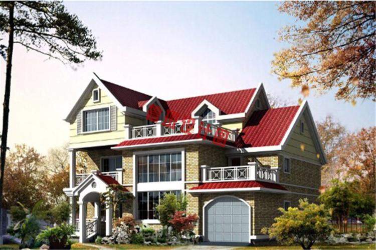 二层半自建房房屋设计外观图