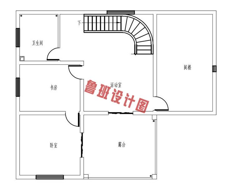 二层半自建房房屋设计三层户型图