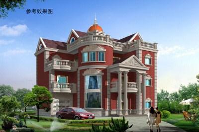 四层(三层半)豪华欧式小楼别墅设计图,高端豪华。