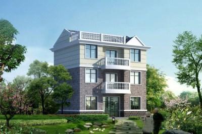 清新简约100平农村三层楼房设计图,外观简单
