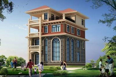 乡村四层欧式别墅自建房设计图,简单大气
