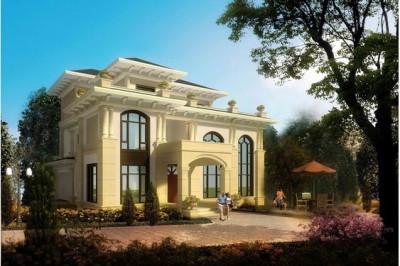80万乡村高档欧式别墅设计图,含全套图纸和效果图。
