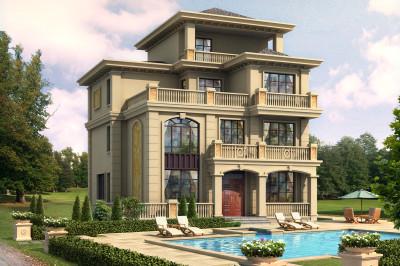 豪华四层别墅图片大全及设计图,外观精致古典。