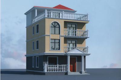 农村三层半房屋设计图,30万左右,适合南方、北方
