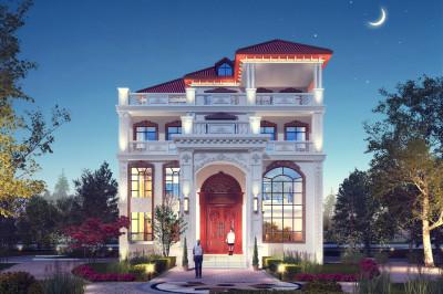 农村4层楼房新款图片及设计图,百万豪宅首选