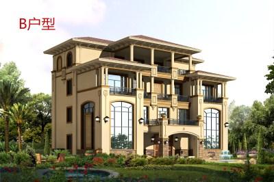 100万欧式四层别墅设计图,大面积户型,多卧室设计