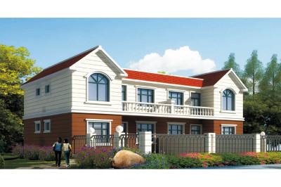 造价低的兄弟自建二层双拼别墅设计图,户型简单