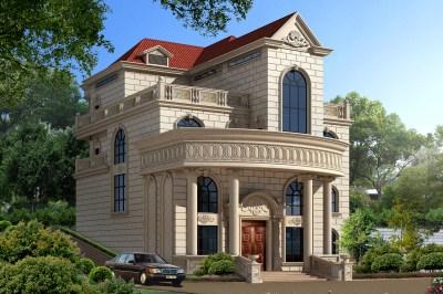 农村四层别墅洋楼设计图,复式结构,客厅挑空,