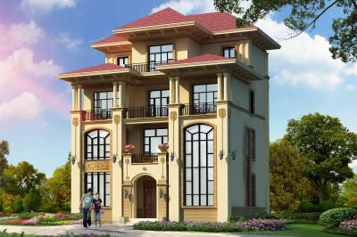 农村四层复式楼房设计图,带设计图纸和外观效果图。