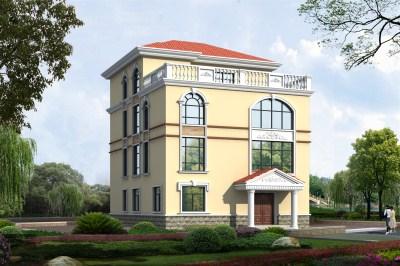 四层160平农村别墅设计图方案,外观清新简约