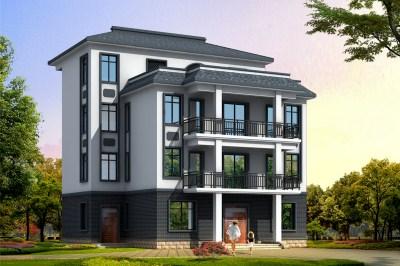 新中式四层独栋房屋别墅设计图,古典韵味十足